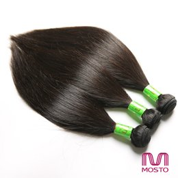 Wholesale Brazilian Hair 3pc - 3pc Brazilian Peruvian Human Hair Weaves Bundles Straight Hair Weaves hair extensions MOSTO