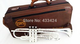 Wholesale Bach Tr - American Bach Original Authentic Double Silver-plated TR-190GS Flat Professional Trumpet Top Musical Instruments Brass Bugle Bb Trumpets