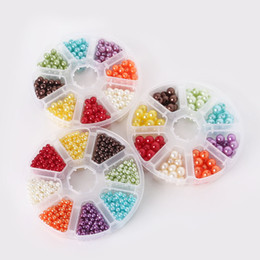 Wholesale 6mm Round Acrylic Beads - Wholesale 4mm 6mm 8mm Mixed Pearl Beads,Acrylic Spacer Ball Round Beads white black U-pick Fit Jewelry DIY,Free shipping