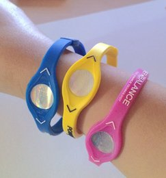 Wholesale Silicone Power Bracelet Band - new silicone energy bracelets band power bands sport wristbands XS, S, M, L, XL, 33 colors , only bands , free shipping
