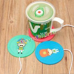 Wholesale Hot Beverage Warmer - 5V USB Beautiful Design 5V USB Silicone Heat Warmer Heater Milk Tea Coffee Mug Hot Drinks Beverage Cup 3Color
