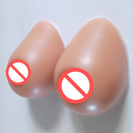 Wholesale Bust Cup Size - Size A B C D to H cup Tan Color Tear Drop Shape Brown Nipple Crossdresser Breast Form Silicone Fake Bust Artificial Boobs Shemale User