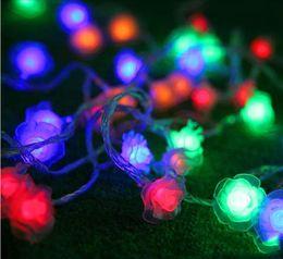 Wholesale purple flower string lights - New design led string light 30M flowers 110V   AC220V colorful holiday led lighting waterproof outdoor decoration light christmas light