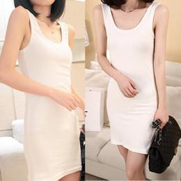 Wholesale Long Vest Tops Women - Wholesale-New Fashion Cotton Long Dress Tank Sleeveless Tops Women Beach Blouses Vest Shirt 2016 T1
