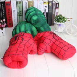 Canada les vengeurs hulk gants homme en peluche homme spiderman gants incroyable hulk smash gants performance accessoires hulk smash mains gants en peluche Cosplay Offre