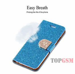 Wholesale Galaxy S4 Shiny Cases - Bling Diamond Rhinestones Leather Case For samsung Galaxy S6 edge S5 S4 iPhone 6 plus 5 5s 4 4s Full Wallet Shiny Buckle stand cover