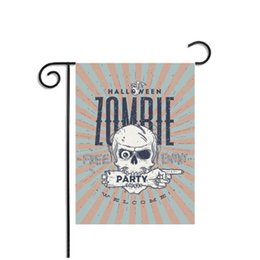 Wholesale Pirate Party Flags - Halloween Flags Banner Decorative Ornament Human Skull Pirate Printing Printed Party Decoration Decor Indoor Garden Supplies Polyester Flag