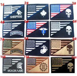 Wholesale Marine Badge - VP-87 3*2 inch 3D Embroidered patches Punisher US flag sheepdog Marines Tactical Isaf Attack Badge patches outdoor badges