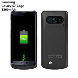 Wholesale External Backup Charger Case Pack - Battery Charger Case for Samsung galaxy S7 Edge 5200mAh Power Case External Battery Backup Pack Charging Case Cover