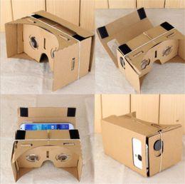 Gafas 3d lg online-Gafas 3D DIY Google Cardboard Gafas de realidad virtual VR para los teléfonos con pantalla de 3-6 pulgadas iPhone SE 6S más Samsung S8 más LG G5