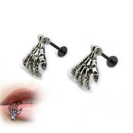 Wholesale Labret Ear - Sanwood Exquisite Punk Segment Lip Earring Ear Clip Labret Nose Ring Body Piercing Jewelry