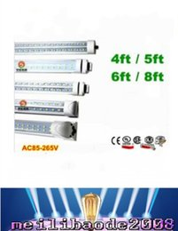 Wholesale Wholesale T8 Fluorescent Light Fixtures - wholesale 8ft T8 Led Tube lights FA8 Single Pin Integrated G13 R17D Led 72W 8000LM Fluorescent light fixtures AC 85-265V MYY