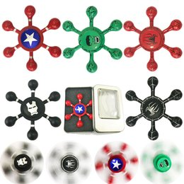 2017 jouet à araignée Metal Fidget Spinner EDC Spinner à main Spider Man Iron Man Finger Gyro pour décompression Toy Anxiety with Retail box