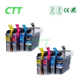 Wholesale Ink Dcp - CTT 8PCS LC123 Ink Cartridges Compatible For Brother LC-123 DCP J132W J152W J552DW J752DW J4110DW Printer