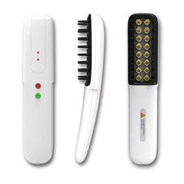 2019 peine la cuchilla peina el cabello La terapia nivel peine láser regeneración del cabello bajo portátil con 16 diodos láser para uso personal