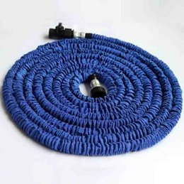 Wholesale Expandable Garden - 75ft 100ft Expandable Magic Flexible Garden Hose Aliumum Conector For Car Water Hose Pipe Plastic Hoses To Watering With Spray Gun