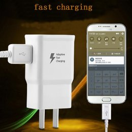 Wholesale Micro Current Wholesale - Fast Charging Quick USB Wall Charger Home Travel Plug Power Adapter+1.5m Micro USB Cable 2A Current Universal for Android Cell Smart phone