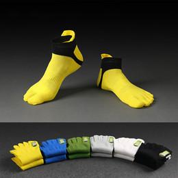 Wholesale Toe Socks Men Athletic - Summer Thin Section Men Mesh Breathable Five Toe Socks Male Sports Socks Cotton Finger Basketball Socks Foot Heel Protection