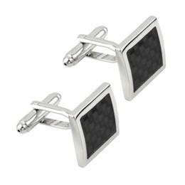 Винтажные запонки онлайн-Wholesale-Newest 2016 1pair Vintage Men's Stainless Steel Silver Square Wedding Gift Grid Laser Cuff Links Drop Shipping