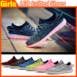 Wholesale Wholesale Heels Boots - 2016 Top LED Shoes light colorful Flashing Shoes with USB Charge Unisex Fluorescent Couple Shoes For Party and Sport Casual Shoes DHL Free