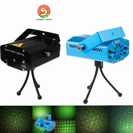 Wholesale xmas laser lights - 2017 New Black Mini Projector Red &Green DJ Disco Light Stage Xmas Party Laser Lighting Show, LD-BK DHL Free