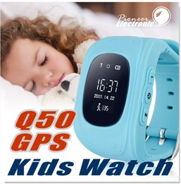 Wholesale Double Dial Watches - Q50 Kids Smart Watch GPS LBS Double Location Safe Children Watch Activity Tracker SOS Card for Android and IOS
