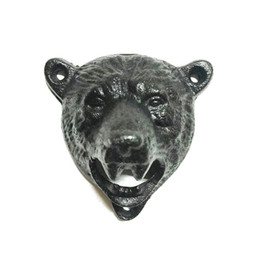 Wholesale Used Cast - Home Bar Use Cast Iron Beer Opener Wall Mounted Bottle Opener Durable Cute Bear Design Openers Kitchen Tools Wholesale ZA1165