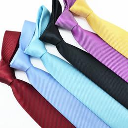 8 cm clássico cor pura inclinado listra vestido business casual tie Casado homens do noivo melhor homem amarrar de