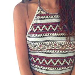Wholesale High Neck Camisoles - Wholesale-JECKSION Sexy Women Crop Tops Summer Beachwear Bikini Bra Strap Tank Vest Tops High-Neck Halter Camis Camisole Y0