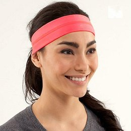 Wholesale Spandex Valentine - Cheap Yoga Headband Sport Good Quality Hair Bands Woman Lady Casual Sports Headwear for Female Top Quality New Hair Accessory Valentine