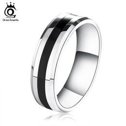 Wholesale New Arrivals 316l - Orsa Jewelry New Arrival 316L Stainless Steel Ring for Fashion Men's & Girls' Ring Jewelry Gift OTR03
