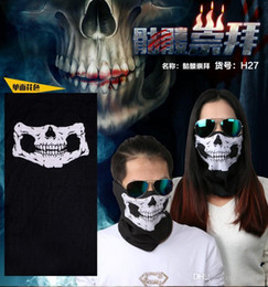 Wholesale Skull Dust Caps - Women Men Balaclava Beanies Motorcycle Skull Ghost Face Windproof Mask Outdoor Sports Warm Ski Caps Bicyle Bike Scarf Dust Scarf ZJ-M01