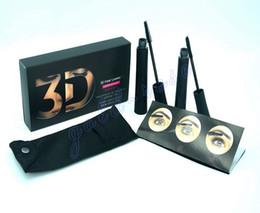 Wholesale Mascara Dhl - HOT NEW Makeup Mascara set 3D Fiber Lashes Black color High quality 2pcs=1set DHL Free shipping+GIFT