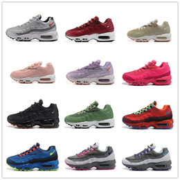 Wholesale Tennis Floor - 2017 New Airs Ultra 20th Anniversary 95 OG Sports Shoes Retro Sports Running Shoes For Women 95s Trainer Tennis Sneakers Free Shipping 36-40