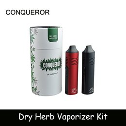Wholesale E Cigarettes Charging Vape - Newest Conqueror Dry Herb Vaporizer Starter Kit Vape pen E cigarette 2200mah battery capacity With OLED Display USB Charging