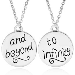 Wholesale Infinity Heart Friend - Best Friends BFF Forever To Infinity & Beyond Friendship Necklaces silver coin engraving Pendant Necklaces Wholesale New Fashion Jewelry