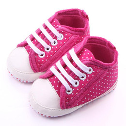 Wholesale Rose Baby Shoes White - Beautiful Dot Design Fancy Rose Baby Shoes for Girl Leather's Toe Cap White Lace-up Soft Sole Anti-slip Infant Shoes Wholesale