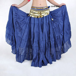 Wholesale Dancing Skirt Long - Wholesale-Hot Fashion Tribal Bohemia Long Skirt Swing Gypsy Skirts Women Belly Dance Ballroom Costume Full Circle Dress