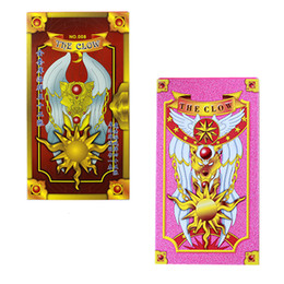 Wholesale Sakura Cards - Cartoon Sakura Card Captor Tarot Cards Mahou the Clow Anime Cardcaptor Sakura Cards Cosplay Playing Game Prop Cards Magic Card in stock
