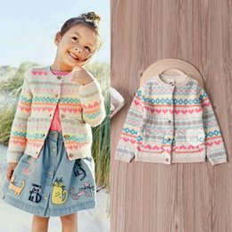 Wholesale Wool Pattern Cardigan - In stock 10 styles INS styles new arrival cute Cartoon pattern children long sleeved Cotton wool cardigan kids girl casual cute cardigan