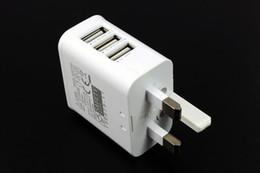 ВЕЛИКОБРИТАНИЯ Plug True 3A 3 Порта USB Power AC Зарядное Устройство Адаптер Путешествия для PAD AIR MINI Samsung s4 s5 ПРИМЕЧАНИЕ 3 200 шт. / Лот от