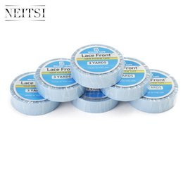 Wholesale Double Side Sticky Tape - Neitsi Wholesale Price 3YARDS SUPER TAPE BLUE Double Sided Tape For Hair Extensions Sticky Lace Wig Glue