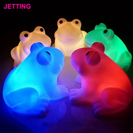 Wholesale Frog Led Lights - Wholesale- Funny Pop Magic LED Night Light Frog Shape Colorful Changing Lamp Room Bar Decor Decoration Novelty Gifts 8 Styles to Choose