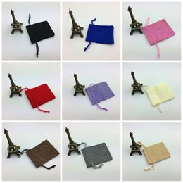Wholesale Fine Candies - Flax Small Burlap Bag Fine Workmanship Drawstring Bags Jewelry Candy Snack Jute Storage Pouch High End 0 8jy B R