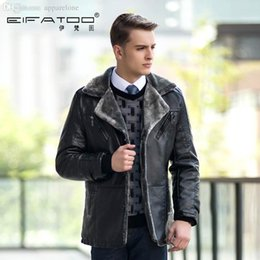 Wholesale Wool Lined Leather Jacket - Fall-Cheap name brand clothing male leather jackets and coats fur lining men wool varsity jackets