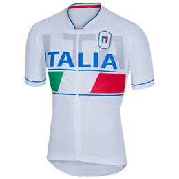 Wholesale Italia Cycling - 2016-2017 ITALIA National Team WHITE Short Sleeve Cycling Jersey Bicycle Wear Size XS-4XL A003
