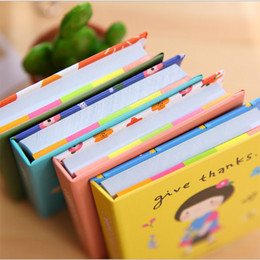 Wholesale Girls Journal - Wholesale- 1pcs Mini Cartoon girl Notebook blank Stickers Notepad Copybook Daily Memos Journal Office stationery school supplies Gifts#1066