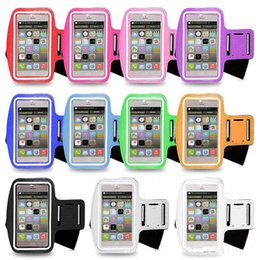 Wholesale Mobile Pa - Men Women Running Arm Pack Outdoor Sport Hiking Camping Gym Fitness 4.7' Inch Touch Screen iPhone 5 5S 5C 6 Mobile Phone Bag Blister Pa
