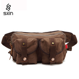 Wholesale Utility Canvas Bags - Men Canvas Multi-pocket Waist Bag Hip Utility Military Waist Bags Backpack Waist Mountain Bicycle Cycling Outdoor Bag 9136