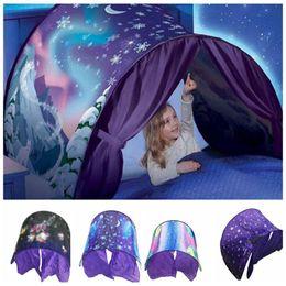 Wholesale Tent Christmas Lights - Outdoor Dream Tents Winter Wonderland Fantasy Foldable Bed Tents Camping Christmas Gifts Kids Outdoor Tent without lights 80*220cm KKA3145